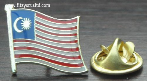 Malaysia Country Flag - Lapel - Hat - Cap - Tie Pin Badge Asia Gift Souvenir New